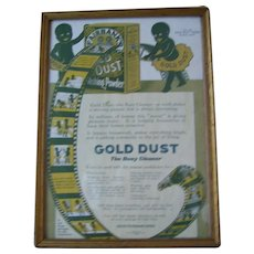 Framed Gold Dust Twins 1916