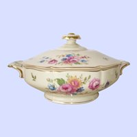 Heinrich and Co. Spring Flowers Covered Dish, Selb Bavaria Germany
