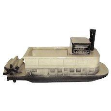 Vintage McCoy Steamboat Paddle Wheel Lorena Commemorative Planter