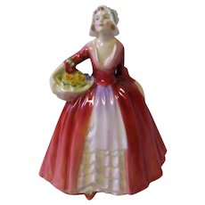 Royal Doulton Figurine Janet Holding a Basket of Flowers HN1537
