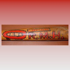 Early folk art decorated baseball bat