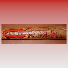 Early folk art decorated baseball bat