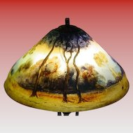 Reverse painted table lamp Pairpoint Co--18 diameter