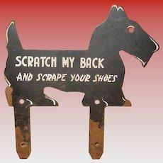 Antique Unusual iron Scottie dog boot scraper