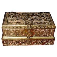 Tiffany Studios Venetian pattern stamp box