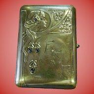 Sterling silver cigarette case-Art Nouveau---Germany