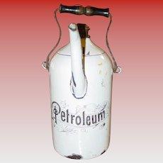 Neat porcelain enamel Petroleum pitcher