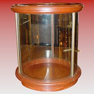 Unusual round table top counter top display case