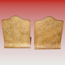 Tiffany Studios bronze bookends - Zodiac pattern