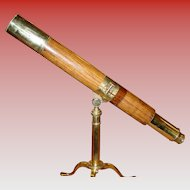 Fine antique rosewood barrel telescope by Blakeney