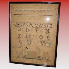Needlework sampler Eliza Brown 1832-American