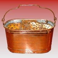Unusual antique copper salesman sample minnow bucket