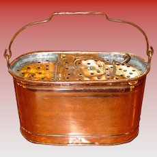 Unusual antique copper salesman sample minnow bucket