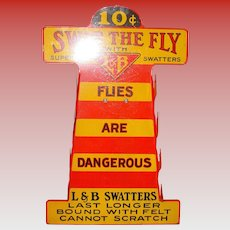 Counter top country store Fly Swatter display with product