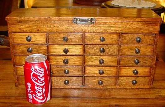 drawers for cabinets kitchen small 20 drawer oak watchmakers sydows antiques 15060