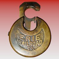 Erie railroad pancake padlock
