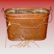 Copper minnow bucket-F. Hedges Cynthiana KY