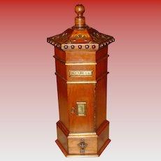 Pretty English mahogany desk letter mail box