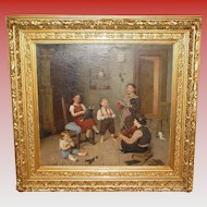 Exceptional oil on canvas painting by Rosa Hohenberg----children