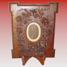 Fabulous antique hand carved picture frame-Black Forest