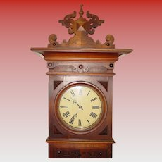 German (signed Furtwangler) tall case grandfather clock--19th century