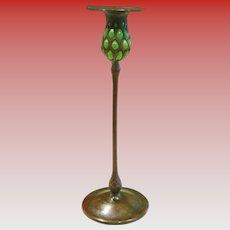 Fine Tiffany Studios bronze blown out candlestick