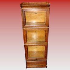 Great HALF size oak barrister bookcase - MACEY