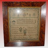 School girl needlework sampler Mary Catt-early 19th century