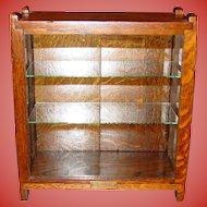 Antique West Gum Co oak chewing gum counter top display case