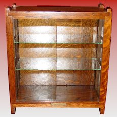 Antique West Gum Co oak chewing gum counter top display case