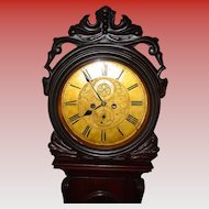 Antique Scottish tall case drumhead clock--circa 1840