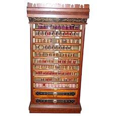 12 drawer Leonard spool thread cabinet-castle model