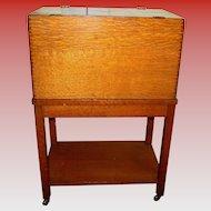 Antique Yawman & Erbe quartered oak file filing cabinet