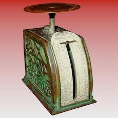 Tiffany Studios Crescent grapevine pattern desk top postal scale