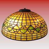 Tiffany Studios leaded glass table lamp-Acorn pattern