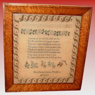 Antique School girl sampler Mary Jackson-early 19th century