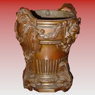 Bronze late Victorian fernery or plant container