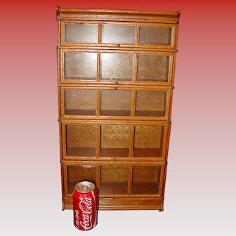 Super quartered oak salesman sample barrister Bookcase