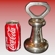 Unusual large 10 pound bell style scale weight