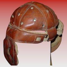 Vintage Wright & Ditson leather football helmet