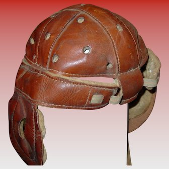 Vintage Wright & Ditson leather football helmet