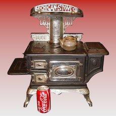 Salesman sample large cast & nickel BUCKS cook stove