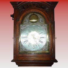 Carved oak tall case grandfather clock-Bastien Hans Mafait-dated 1769