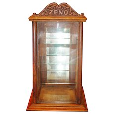 Country store Oak Zeno chewing gum display case