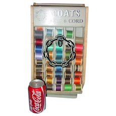 Small size Coats table top spool thread cabinet