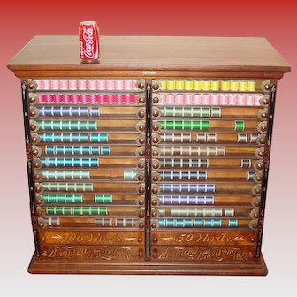 Large rare 28 drawer Brainerd Armstrong spool cabinet
