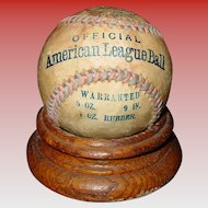 Rare Official American League baseball ball-circa 1908