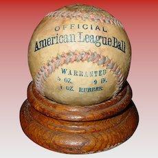 Rare Official American League baseball ball-circa 1908