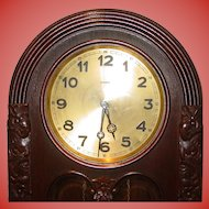 Tall case oak German antique grandfather clock-Lenzkirch