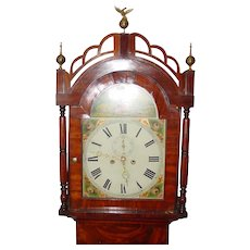 Early 19th century  tall case grandfather clock--bell strike